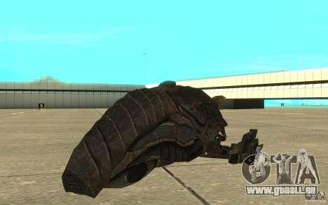 Starship Predator von die Spiel Aliens Vs Predat für GTA San Andreas linke Ansicht