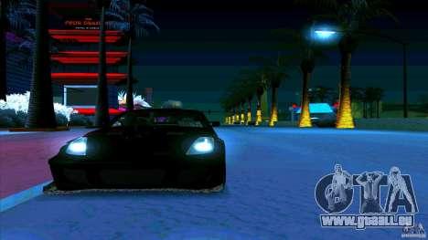 Nissan 350Z JDM pour GTA San Andreas sur la vue arrière gauche