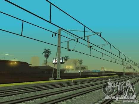 Haute vitesse de la ligne de chemin de fer pour GTA San Andreas neuvième écran
