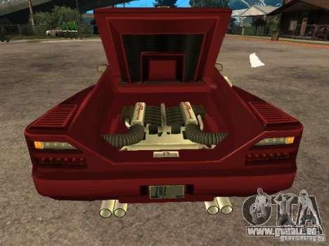 HD Cheetah für GTA San Andreas Rückansicht