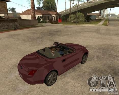 Lexus SC430 pour GTA San Andreas vue de droite