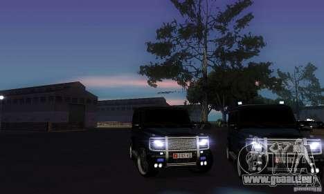 Mercedes Benz G500 ART FBI pour GTA San Andreas vue de côté