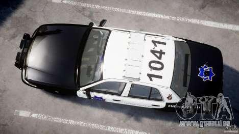 Ford Crown Victoria SFPD K9 Unit [ELS] pour GTA 4 est une vue de l'intérieur