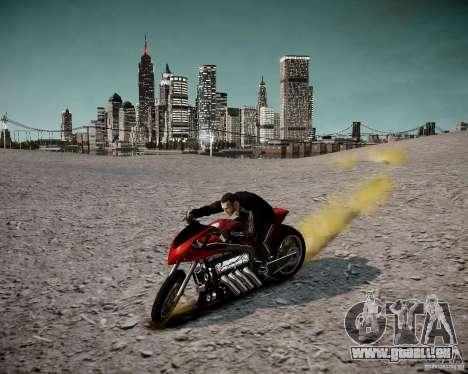 Drag Bike für GTA 4 Rückansicht