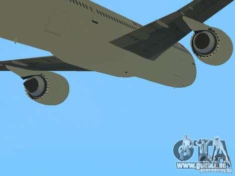 Boeing 787 Dreamliner Air Canada pour GTA San Andreas vue arrière
