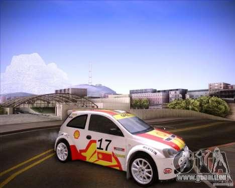 Opel Corsa Super 1600 pour GTA San Andreas sur la vue arrière gauche