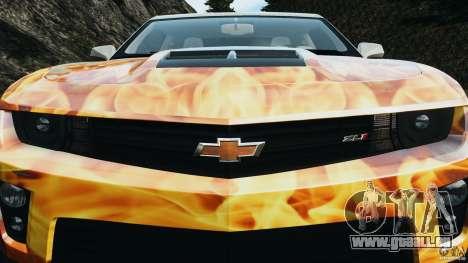 Chevrolet Camaro ZL1 2012 v1.0 Flames pour le moteur de GTA 4