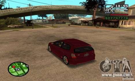 Honda Civic Type R stock pour GTA San Andreas sur la vue arrière gauche