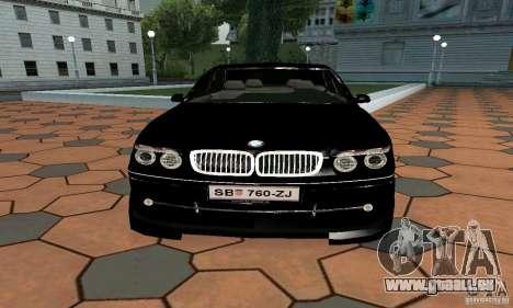 BMW 760LI pour GTA San Andreas vue de droite