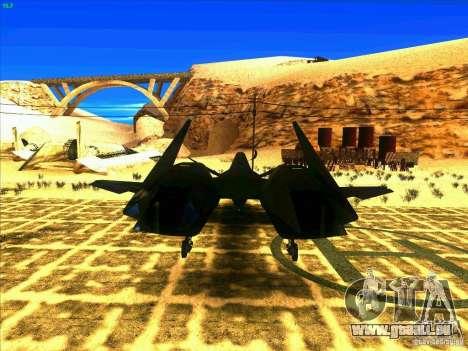 ADF-01 Falken pour GTA San Andreas sur la vue arrière gauche
