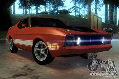 Ford Mustang Mach1 1973 pour GTA San Andreas vue de côté