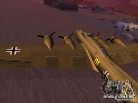 B-17G Flying Fortress für GTA San Andreas linke Ansicht