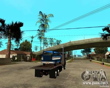 Peterbilt für GTA San Andreas zurück linke Ansicht