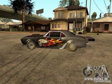 Chevrolet Camaro SS Dragger pour GTA San Andreas laissé vue