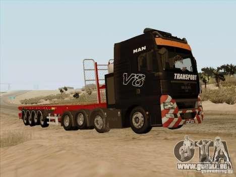 MAN TGX 8x4 pour GTA San Andreas laissé vue