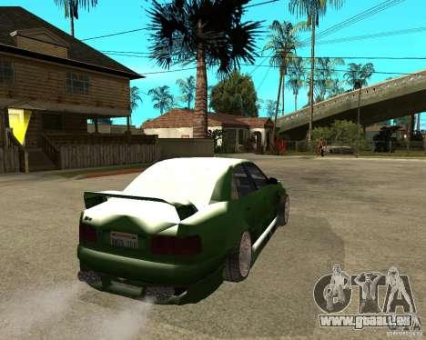 Audi S8 RS Look für GTA San Andreas zurück linke Ansicht