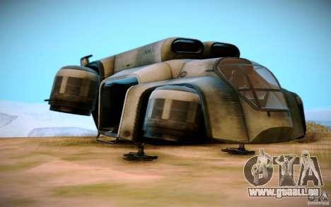 BTR-20 Yastreb pour GTA San Andreas vue arrière