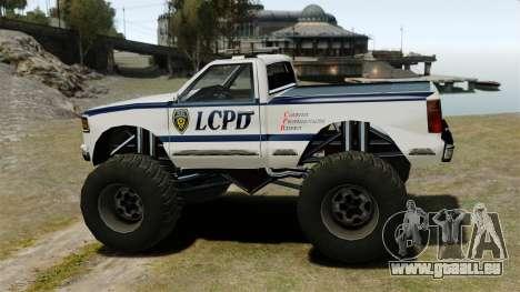 COP Monster Truck ELS pour GTA 4 est une gauche