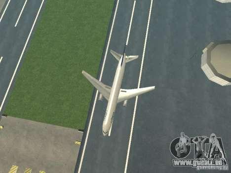 Boeing 767-300 Lufthansa pour GTA San Andreas vue arrière