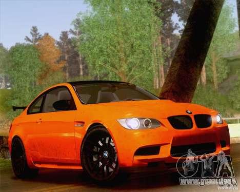 BMW M3 GT-S 2011 pour GTA San Andreas vue intérieure