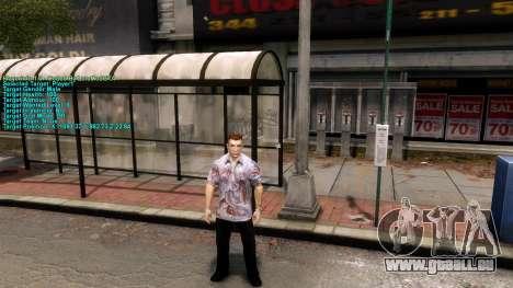 Informations sur le joueur pour GTA 4