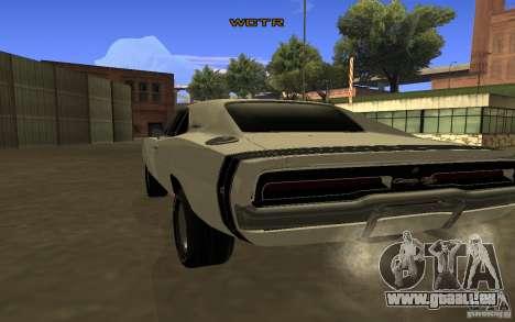 Dodge Charger R/T pour GTA San Andreas sur la vue arrière gauche