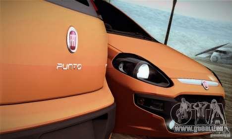 Fiat Punto Evo 2010 Edit für GTA San Andreas Rückansicht
