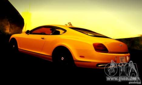 Bentley Continental Supersports für GTA San Andreas Motor