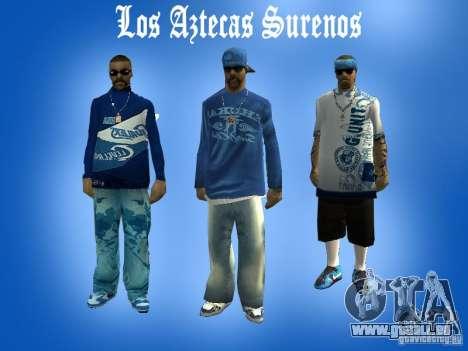 Peaux gang Los Actekas pour GTA San Andreas
