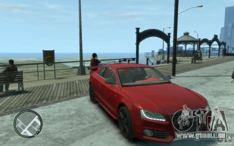 Audi S5 v2 pour GTA 4 Vue arrière