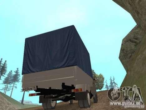 GAZ 3302 im Jahr 2001. für GTA San Andreas Innenansicht