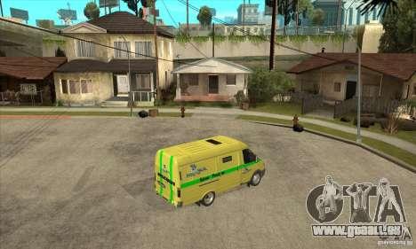 Gazelle du collecteur pour GTA San Andreas vue de droite