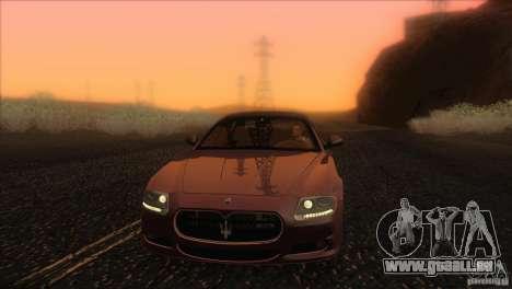 Maserati Quattroporte Sport GT V1.0 für GTA San Andreas Innen