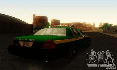 Ford Crown Victoria Vermont Police für GTA San Andreas linke Ansicht