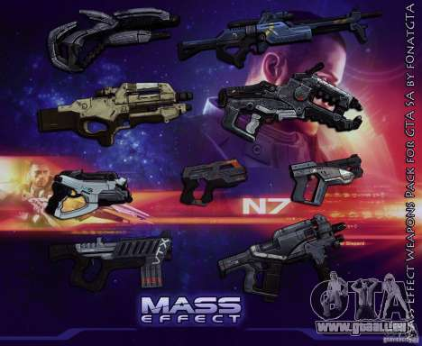 Mass Effect Weapons Pack pour GTA San Andreas