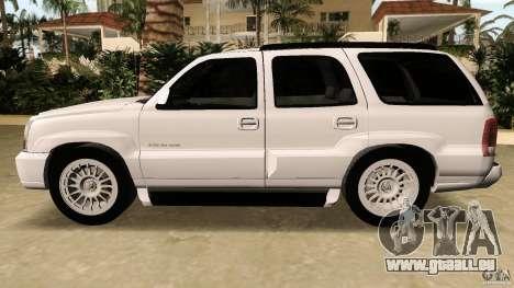 Cadillac Escalade pour une vue GTA Vice City de l'intérieur