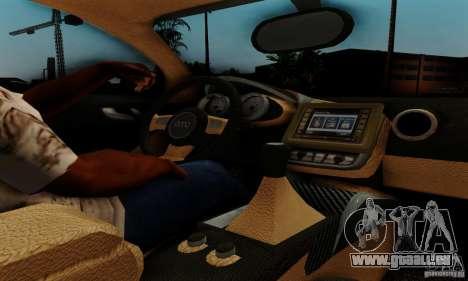 Audi R8 LeMans pour GTA San Andreas vue arrière