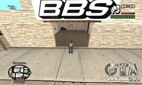 BBS PaynSpray pour GTA San Andreas troisième écran