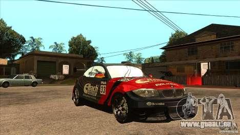 BMW 135i Coupe GP Edition Skin 2 pour GTA San Andreas vue arrière