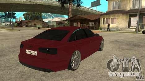 Audi A6 (C7) pour GTA San Andreas vue de droite