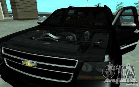Chevrolet Suburban 2010 pour GTA San Andreas sur la vue arrière gauche