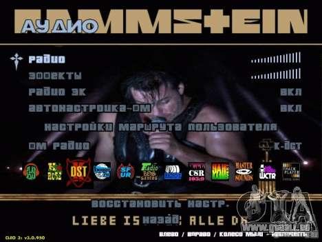 Menu de Rammstein pour GTA San Andreas deuxième écran