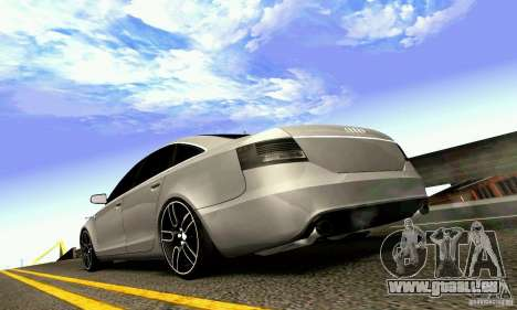 Audi A6 Blackstar für GTA San Andreas obere Ansicht