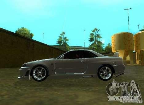 Nissan Skyline GTR-34 für GTA San Andreas Rückansicht