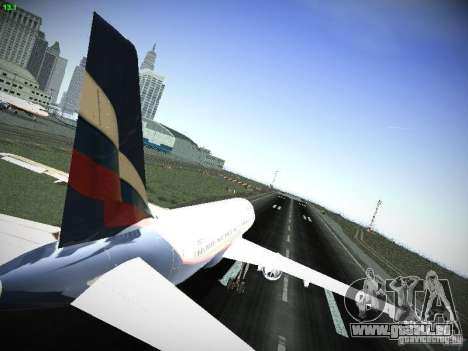 Aeroflot Russian Airlines Airbus A320 pour GTA San Andreas vue de droite
