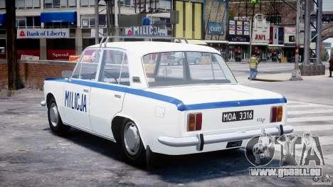 Fiat 125p Polski Milicja pour GTA 4 Vue arrière de la gauche
