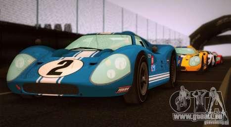 Ford GT40 MK IV 1967 pour GTA San Andreas laissé vue