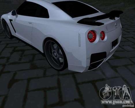 Nissan GTR-35 Spec-V für GTA San Andreas Rückansicht