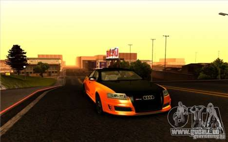 Audi RS6 Black Edition pour GTA San Andreas