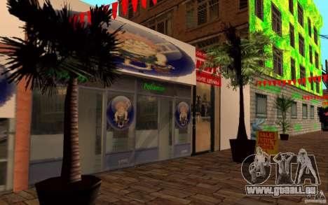 Nouvelle rue de la plage pour GTA San Andreas troisième écran